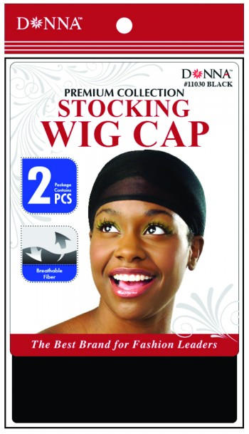 STOCKING  WIG CAP BLK T11030
