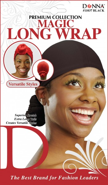 MAGIC LONG HEAD WRAP BLK T11037