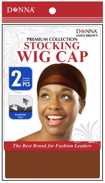 STOCKING  WIG CAP BROWN T11052