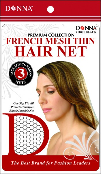 DON FRENCH MASH THIN HAIR NETS BLK
