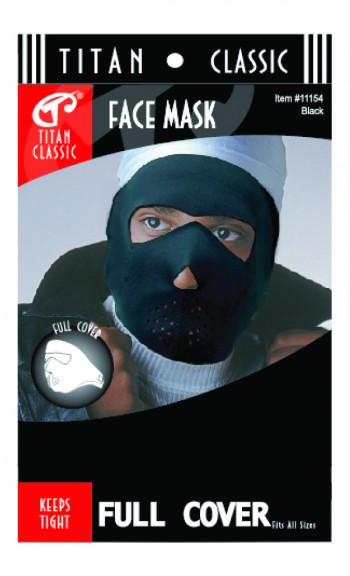 TI FACE MASK FULL COVER BLK