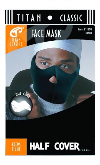 TI FACE MASK HALF COVER BLK