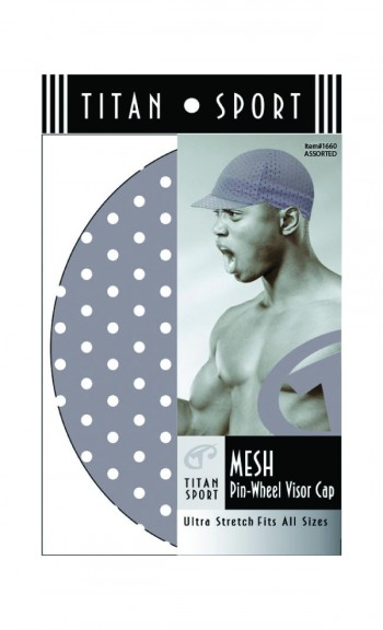 MESH PIN WHEEL VISOR CAP WHITW