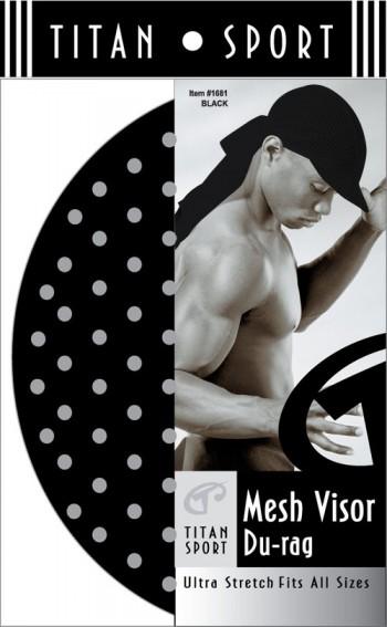 MESH VISOR DURAG BLACK T1681