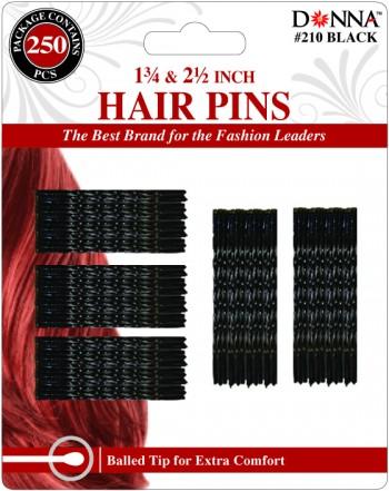 """350 HAIR PINS 1.75 +2.5"""" BLK"""""""