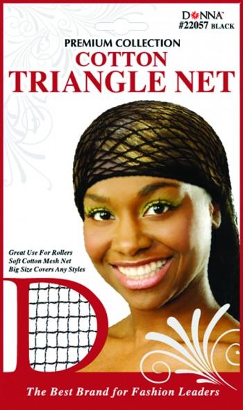 TRIANGLE NET COTTON BLACK T22057