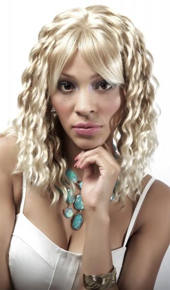 JENNIFER Curly Med Length Wig